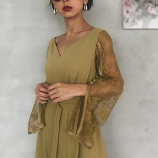 アメリヴィンテージ(Ameri VINTAGE)のameri vintage BACK FLARE REFIND DRESS (ロングドレス)