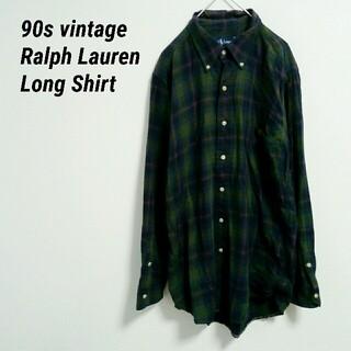 ラルフローレン(Ralph Lauren)のRalph Lauren ラルフローレン 長袖シャツ チェック柄 刺繍ロゴ(シャツ)