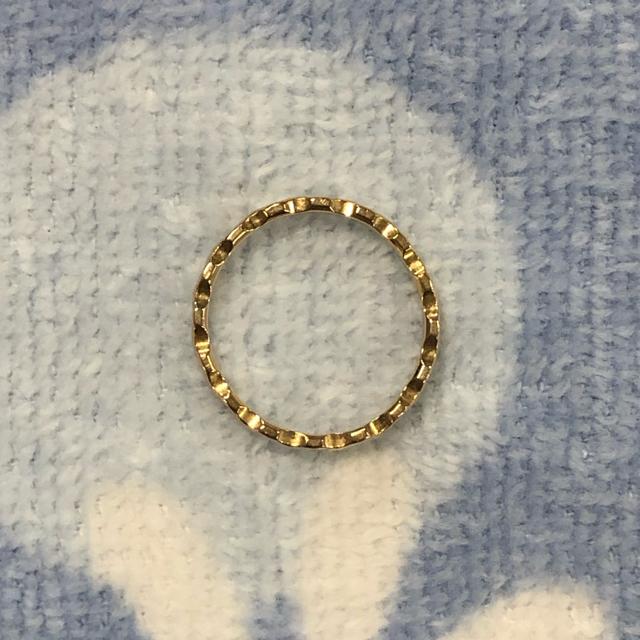 COCOSHNIK(ココシュニック)のK10 ピンクゴールド 指輪 レディースのアクセサリー(リング(指輪))の商品写真