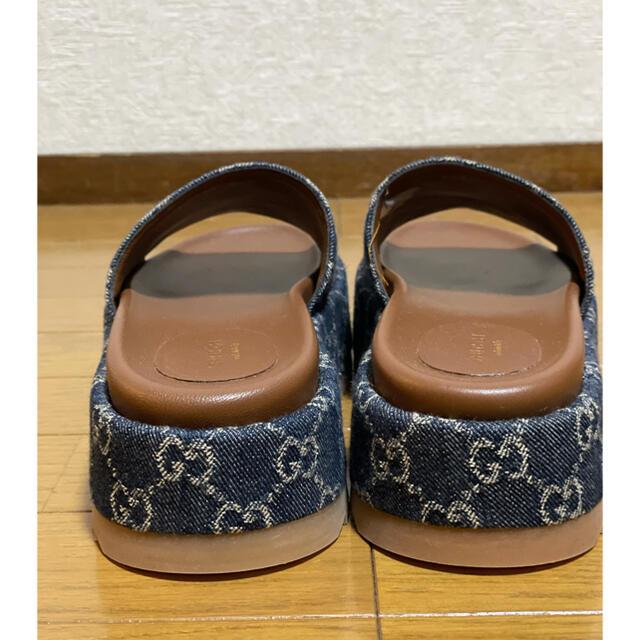Gucci(グッチ)の●GUCCIグッチGGデニムプラットフォームサンダル37新品 レディースの靴/シューズ(サンダル)の商品写真