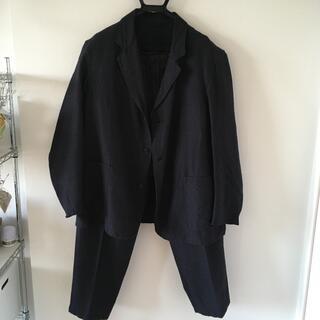 コモリ(COMOLI)のCOMOLI 20AW ウールシルクジャケット ネイビー (セットアップ)
