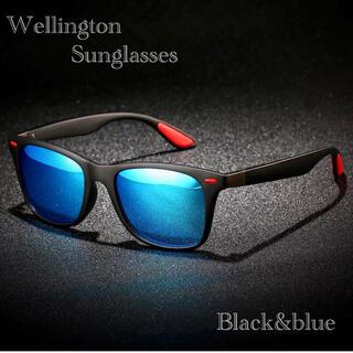 サングラス ウェリントン メガネ 伊達メガネ UV400 紫外線カット ブルー