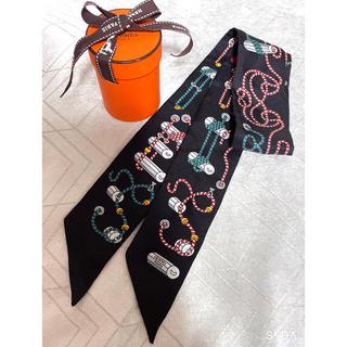 Hermes - エルメス ツイリースカーフ コルダージュ ブラック ロープ