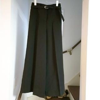 PLST - プラステ バッグサテンワイドパンツ ベルト付 XXS  ブラック