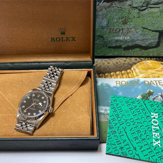 ROLEX(ロレックス)のaachan様専用 ロレックス デイトジャスト 16234G 10P W番 メンズの時計(その他)の商品写真