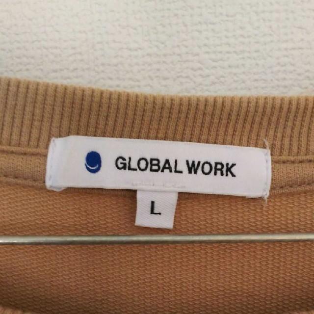 GLOBAL WORK(グローバルワーク)の【GLOBAL WORK】ソフトタッチ zip チュニック ブラウン トレーナー レディースのトップス(チュニック)の商品写真