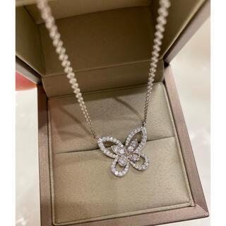 フォクシー(FOXEY)の最高級sonaダイヤモンド バタフライシルエット ネックレス(ネックレス)