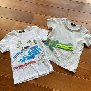 kladskap - クレードスコープ 110 半袖Tシャツ ワニ 電車 2枚セット