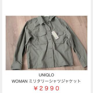 ユニクロ(UNIQLO)のUNIQLOミリタリーシャツジャケット(ミリタリージャケット)