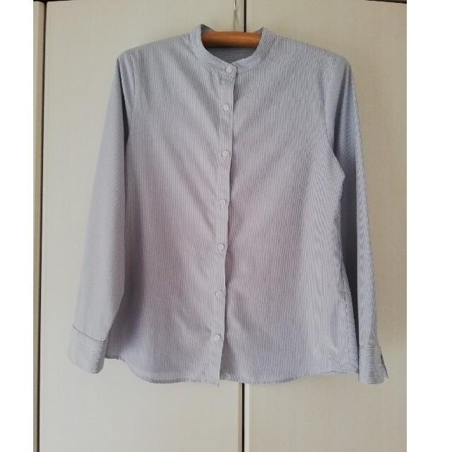 HONEYS(ハニーズ)のHoneys ノーカラーシャツMサイズ レディースのトップス(シャツ/ブラウス(長袖/七分))の商品写真