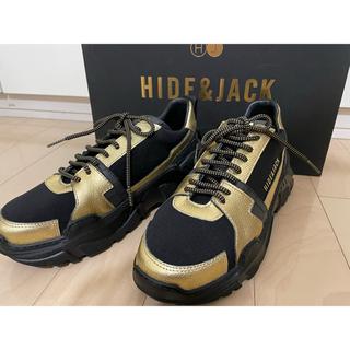 HIDE&JACK ダッドスニーカー 37 ゴールド ブラック(スニーカー)