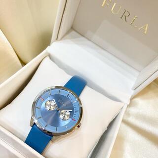 Furla - FURLA フルラ 腕時計 メトロポリス クォーツ 電池 ブルー 革ベルト