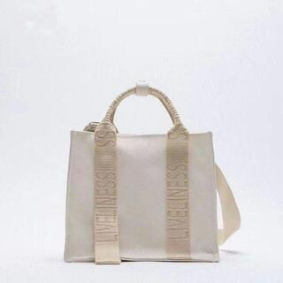 ZARA - ZARA ロゴストラップ キャンバスミニトートバッグ