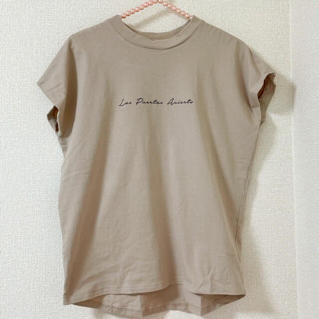 GRL(グレイル)のGRL★フレンチスリーブロゴTシャツ レディースのトップス(Tシャツ(半袖/袖なし))の商品写真