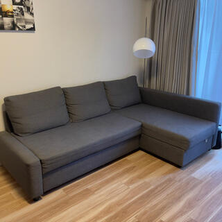 IKEA - 美品!ソファベッド、IKEA FRIHETEN、収納あり、グレー