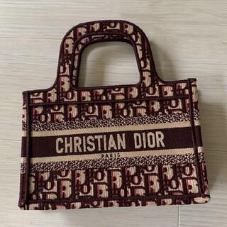 Dior - ディオール ブックトート ミニ バッグ バーガンディー