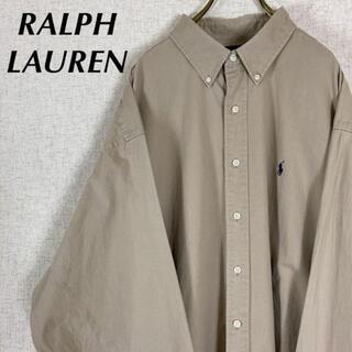 Ralph Lauren - ラルフローレン BDシャツ ワンポイント 刺繍ロゴ ビッグシャツ ベージュ