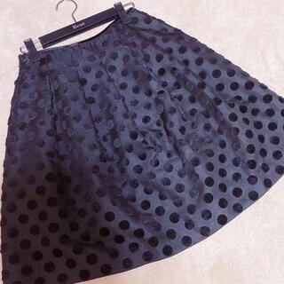 エムプルミエ(M-premier)のエムプルミエ ドットスカート(ひざ丈スカート)