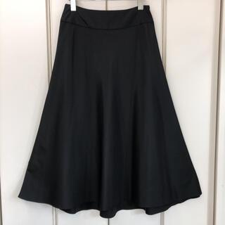 ローラアシュレイ(LAURA ASHLEY)の美品 LAURA ASHLEY シルク混 フレア ロング スカート(9号)(ロングスカート)