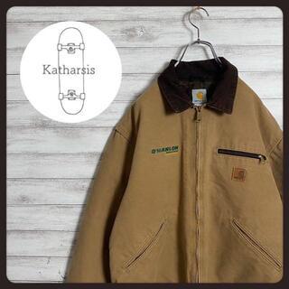 carhartt - 【入手困難】90s カーハート 刺繍 ワークロゴ 皮パッチ ダックジャケット