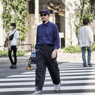 1LDK SELECT - 新品 TapWater Cotton Chino Tuck Trousers 紺