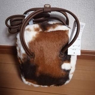 しまむら - 新品☆カウ柄ファーショルダーバッグ 牛柄 しまむら