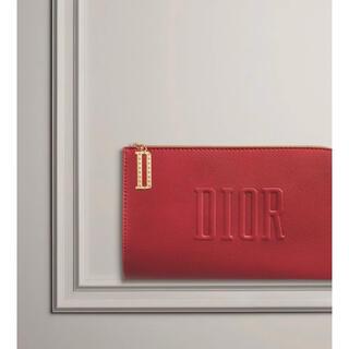 ディオール(Dior)の🌟翌日発送🌟新品🌟Dior💗レッドフラットポーチ(ポーチ)