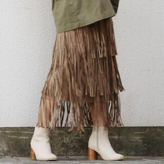 アングリッド(Ungrid)のスウェードスカート(ロングスカート)