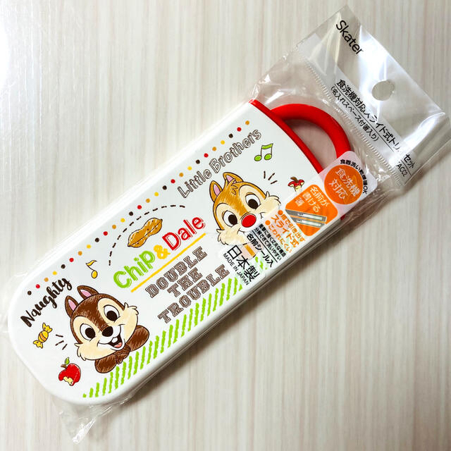 Disney(ディズニー)の[新品] ディズニー チップとデール 箸スプーンフォーク トリオセット インテリア/住まい/日用品のキッチン/食器(弁当用品)の商品写真
