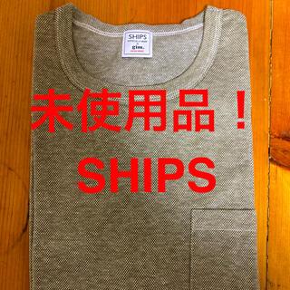 シップス(SHIPS)の新品!未使用品!日本製!SHIPS リネンブレンドコットン ポケットTシャツ(Tシャツ/カットソー(半袖/袖なし))