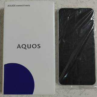 AQUOS - 【新品未使用】AQUOSsense3 basic シルバー