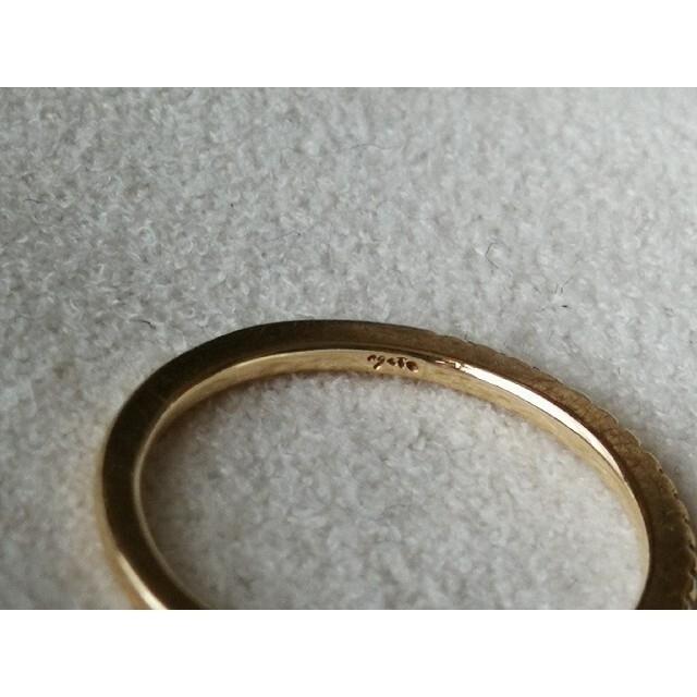 agete(アガット)のアガット K10 ハーフエタニティリング 0.05ct  3号 レディースのアクセサリー(リング(指輪))の商品写真