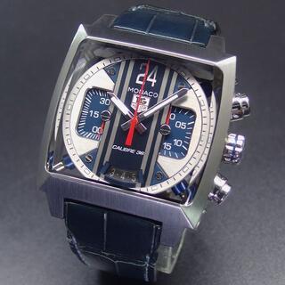 タグホイヤー(TAG Heuer)の国内正規 19年OH済み 美品 タグホイヤー モナコ 24 クロノ エルプリメロ(腕時計(アナログ))