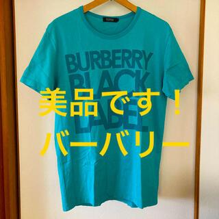 バーバリーブラックレーベル(BURBERRY BLACK LABEL)の美品です!国内正規品!バーバリー ブラックレーベル ビッグロゴ コットンTシャツ(Tシャツ/カットソー(半袖/袖なし))