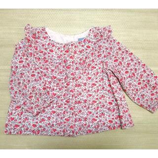 ベビーギャップ(babyGAP)のベビーギャップ ボタニカル柄 トップス 80cm 花柄 ローズ柄 北欧(Tシャツ)