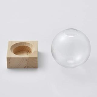 フェリシモ(FELISSIMO)のガラスドーム 花瓶(花瓶)