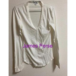 ジェームスパース(JAMES PERSE)のジェームス パース 白カットソー(カットソー(長袖/七分))