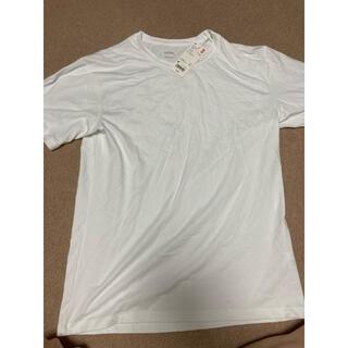 ユニクロ(UNIQLO)の未使用 メンズ エアリズムコットンクルーネックTシャツ Mサイズ(Tシャツ/カットソー(半袖/袖なし))