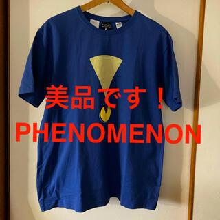 フェノメノン(PHENOMENON)の美品です!日本製!フェノメノン オオスミタケシ ビッグロゴ コットンTシャツ(Tシャツ/カットソー(半袖/袖なし))