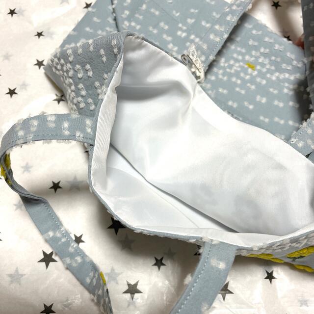 mina perhonen(ミナペルホネン)のミナペルホネン 松屋 ランチトートバッグ ballade ライトブルー レディースのバッグ(トートバッグ)の商品写真