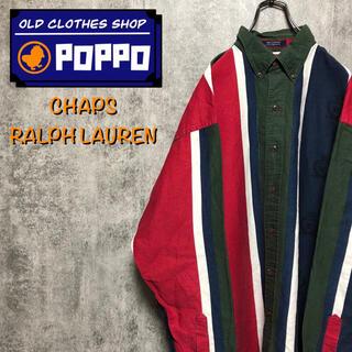 ラルフローレン(Ralph Lauren)のチャップスラルフローレン☆ブランドロゴ入りマルチストライプシャツ90s(シャツ)