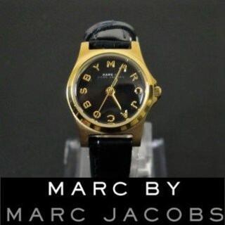 マークバイマークジェイコブス(MARC BY MARC JACOBS)の【稼働品】marc by marc jacobs 黒文字盤 電池交換済(腕時計)