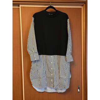 ZARA - ZARA ドッキングシャツ ストライプ