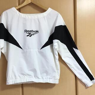 Reebok - リーボック Reebokパーカー スポーツウェア レディーストップス 長袖 白黒