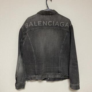 Balenciaga - balenciaga バックロゴ デニムジャケット 18ss