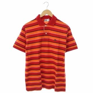 アベイシングエイプ(A BATHING APE)のアベイシングエイプ ベビーマイロワッペンボーダーポロシャツ 半袖 プルオーバー(ポロシャツ)