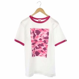 A BATHING APE - アベイシングエイプ 猿カモプリントパイピングTシャツ カットソー 半袖