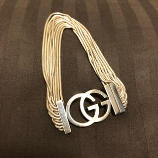 Gucci - 【希少】GUCCI ダブルG 10連チェーンブレスレット シルバー925