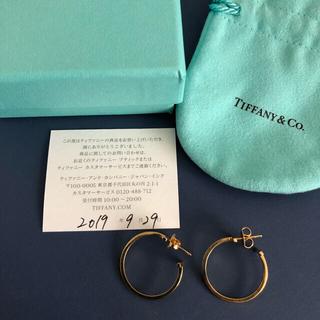 Tiffany & Co. - ティファニーTフープピアス