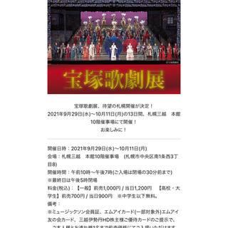 宝塚歌劇展 ご招待券 ペアチケット(その他)
